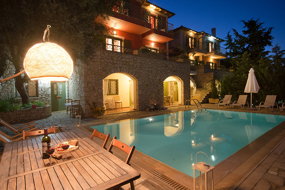 Diodati Villas with private pools and breathtaking sea views close to beach, restaurants, cafes and bars in Lefkada island, Greece